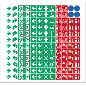 Sammelbogen mit 144 Symbolen gemäß ISO 7010