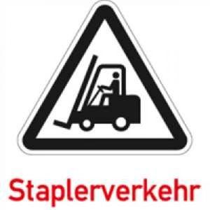 Folie für Warnaufsteller - Staplerverkehr