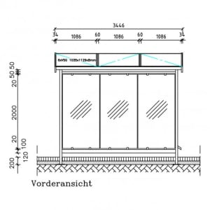 Automaten-Überdachung Modell Zürich, Z 303