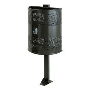 Halbrund-Abfallbehälter RANGER - Inhalt 35 Liter