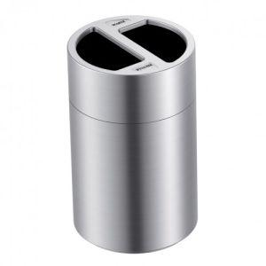 Abfallbehälter / Wertstoffbehälter RONDO SUPERIOR mit Abfalltrennung - Inhalt 2x 60 Liter