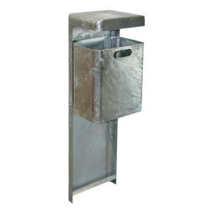 Rechteck-Abfallbehälter MONDO mit Abdeckhaube - Inhalt 35 Liter