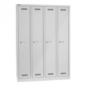 Garderobenschrank Bisley MonoBloc - 4 Abteile, je 1 Fach
