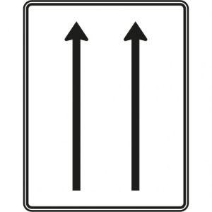 VZ 521-30 Verkehrsschild Fahrstreifentafel