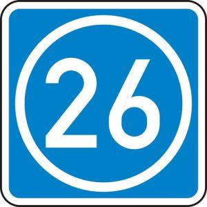 Schild Knotenpunkte Autobahnen ein bis zweistellig VZ 406-50