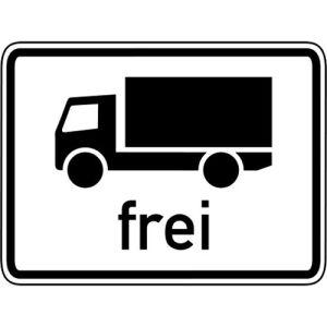 Kraftfahrzeuge über 3,5 t frei Zusatzzeichen VZ 1024-12