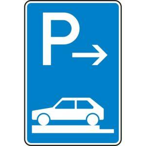 Verkehrszeichen 315-81 Parken auf Gehwegen Schild