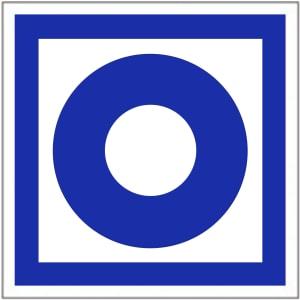 Schild Brandmelder manuell blau / Handfeuermelder / Hausmelder