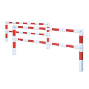 2er Set Gatterschranke PARAT FLEX rot weiss zum Einbetonieren