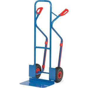 FETRA® Stahlrohrkarre mit großer Schaufel und auswechselbaren Gleitkufen - Tragkraft 300 kg
