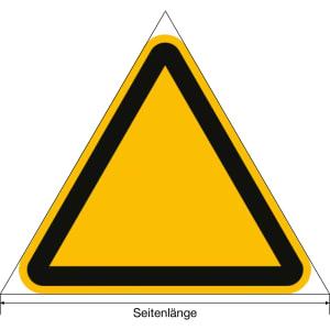 Warnung vor Quetschgefahr nach ISO 7010 (W 019)
