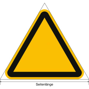 Warnung vor tiefem Wasser nach ISO 20712-1 (WSW 005)