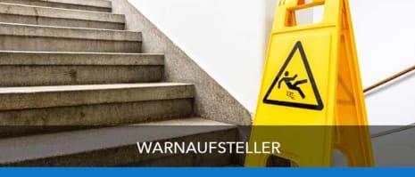 Warnaufsteller zur Kennzeichnung von Gefahrenstellen
