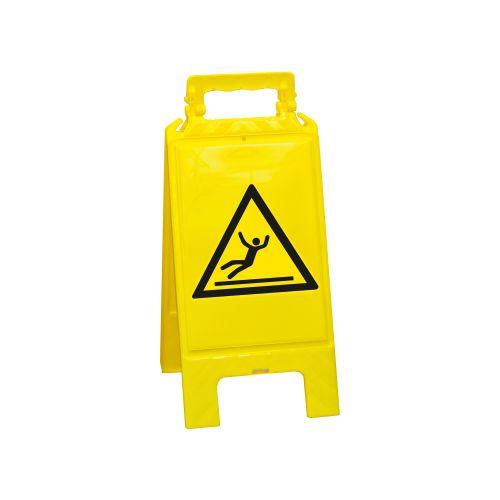 2 x Achtung Rutschgefahr Aufsteller Warnaufsteller Warnzeichen Warnschild Gelb