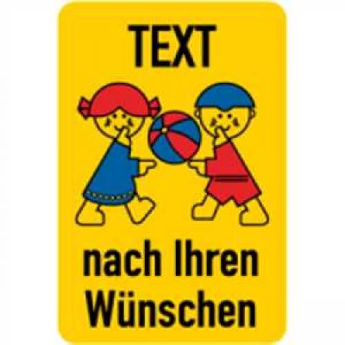 spielplatzschild mit text  symbol nach ihren angaben