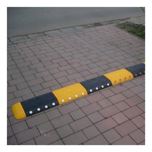 Temposchwelle Fahrbahnschwelle 10km//h Reflektoren Mittelstück schwarz 250x340mm