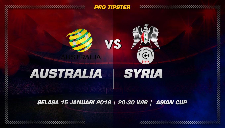 Prediksi Taruhan Bola Australia vs Suriah 15 Januari 2019