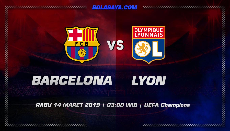 Prediksi Taruhan Bola Barcelona vs Lyon 14 Kamis 2019