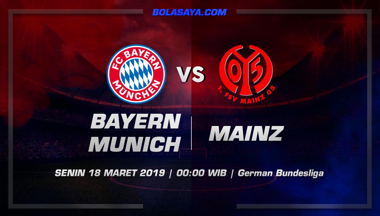 Prediksi Taruhan Bola Bayern Munchen vs Mainz  18 Maret 2019