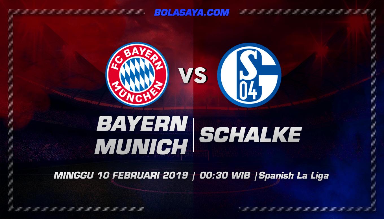 Prediksi Taruhan Bola Bayern Munchen vs Schalke 04 10 Februari 2019