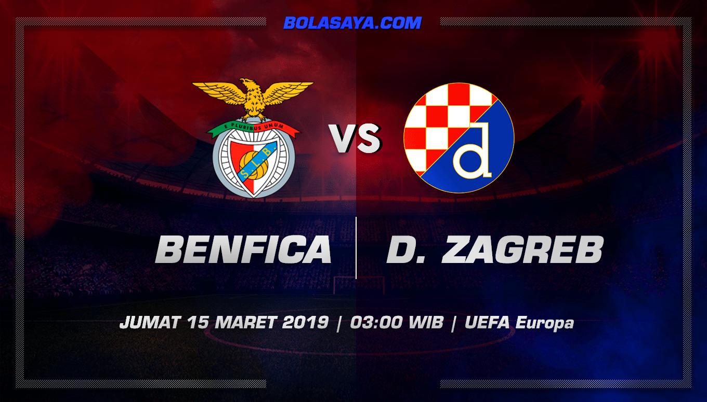 Prediksi Taruhan Bola Benfica vs Dinamo Zagreb 15 Maret 2019
