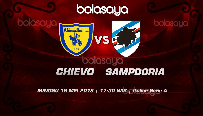 Prediksi Taruhan Bola Chievo Vs Sampdoria 19 Mei 2019