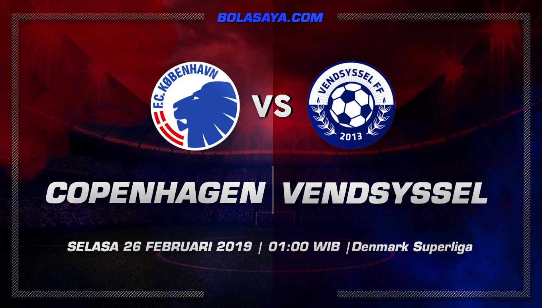 Prediksi Taruhan Bola FC Copenhagen vs Vendsysse 26 Februari 2019
