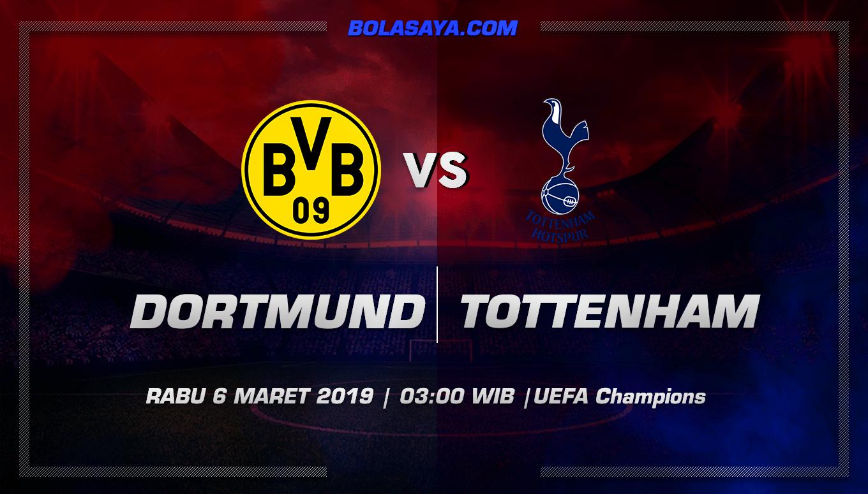 Prediksi Taruhan Bola Dortmund vs Tottenham Hotspur 6 Maret 2019