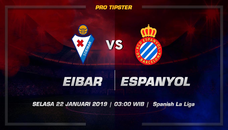 Prediksi Taruhan Bola Eibar vs Espanyol 22 Januari 2019