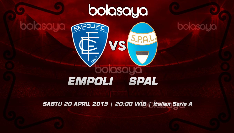 Prediksi Taruhan Bola Empoli vs Spal 20 April 2019
