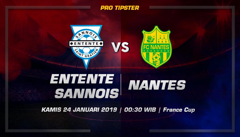 Prediksi Taruhan Bola Entente Sannois vs Nantes 24 January 2019