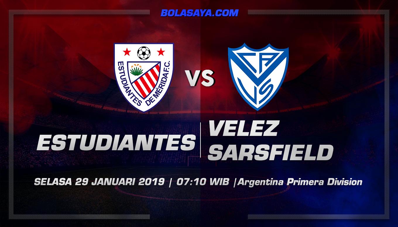 Prediksi Taruhan Bola Estudiantes vs Velez Sarsfield 29 januari 2019