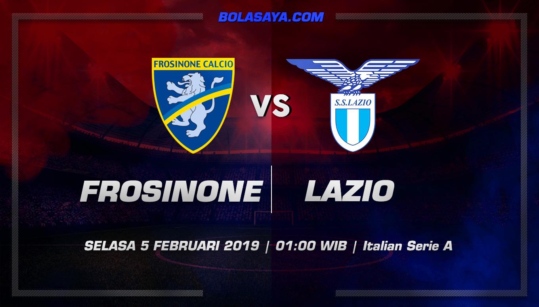Prediksi Taruhan Bola Frosinone vs Lazio 5 Februari 2019
