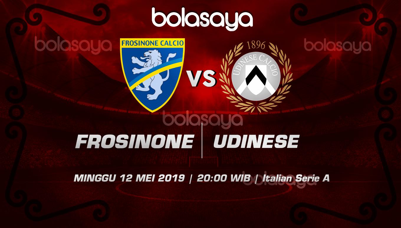 Prediksi Taruhan Bola Frosinone vs Udinese 12 Mei 2019