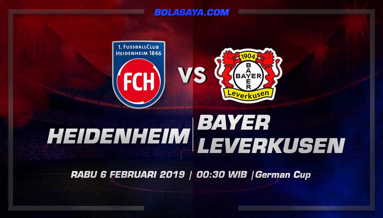 Prediksi Taruhan Bola Heidenheim vs Leverkusen 6 Februari 2019