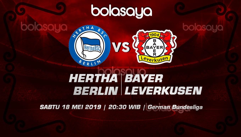 Prediksi Taruhan Bola Hertha Berlin vs Bayer Leverkusen 18 Mei 2019