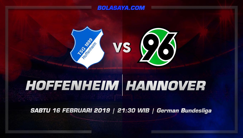 Prediksi Taruhan Bola Hoffenheim vs Hannover  16 Februari 2019