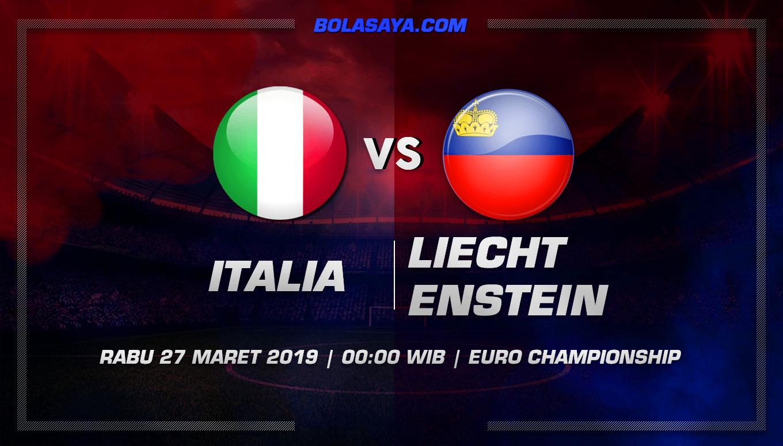 Prediksi Taruhan Bola Italia vs Liechtenstein 27 Maret 2019