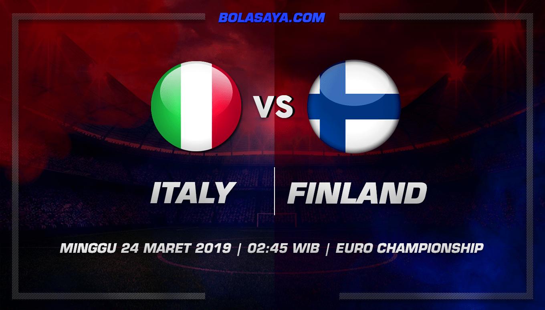 Prediksi Taruhan Bola Italy vs Finland 24 Maret 2019