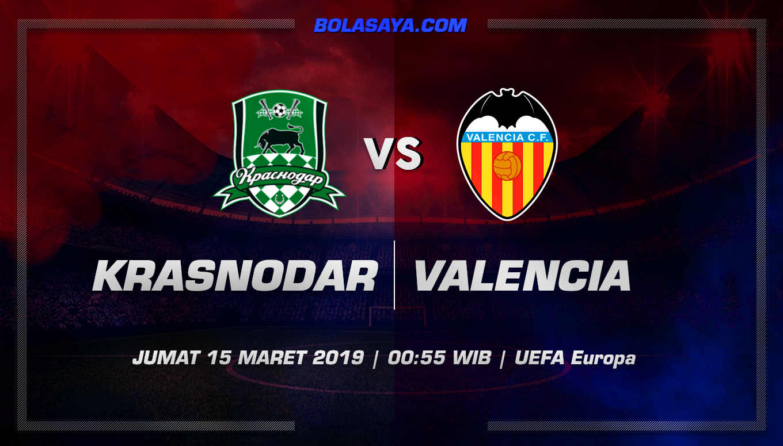 Prediksi Taruhan Bola Krasnodar vs Valencia 15 Maret 2019