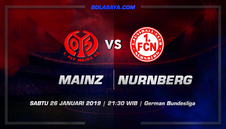 Prediksi Taruhan Bola Mainz 05 vs Nurnberg 26 Januari 2019