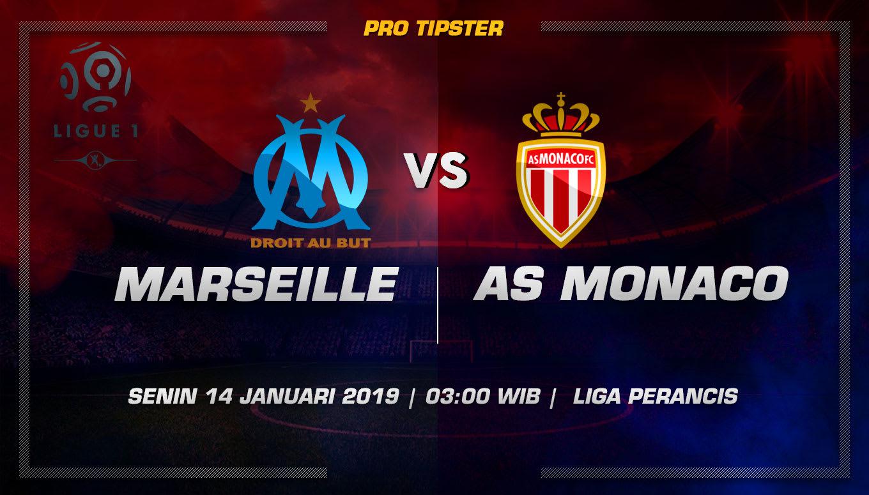 Prediksi Taruhan Bola Marseille VS AS Monaco 14 Januari 2019