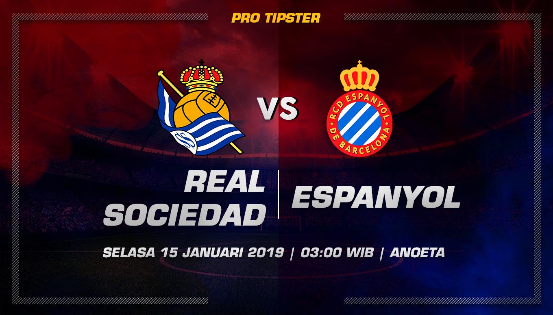 Prediksi Taruhan Bola Real Sociedad vs Espanyol 15 Januari 2019