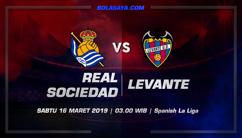 Prediksi Taruhan Bola Real Sociedad vs Levante 16 Maret 2019