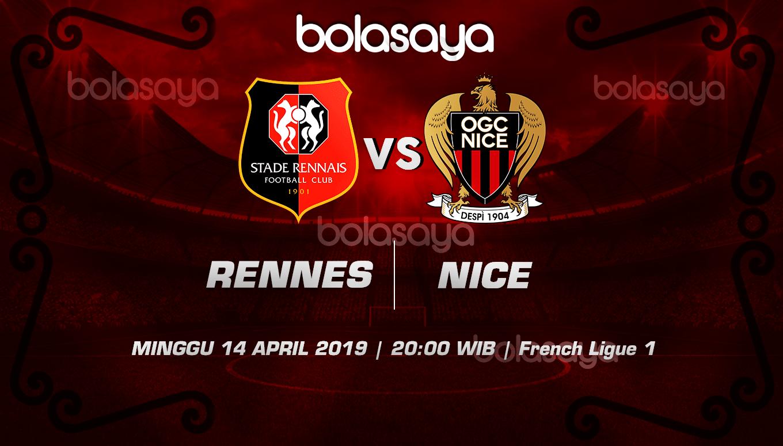 Prediksi Taruhan Bola Rennes vs Nice 14 April 2019