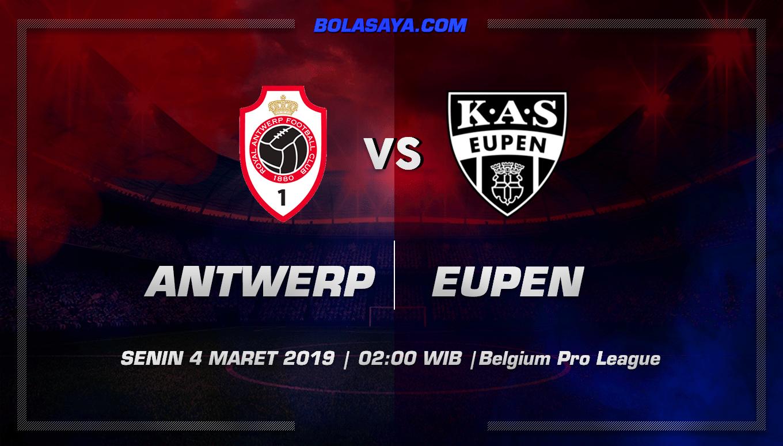 Prediksi Taruhan Bola Royal Antwerp vs Eupen 4 Maret 2019