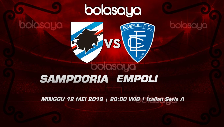 Prediksi Taruhan Bola Sampdoria Vs Empoli 12 Mei 2019