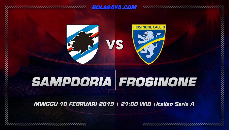 Prediksi Taruhan Bola Sampdoria vs Frosinone 10 Februari 2019