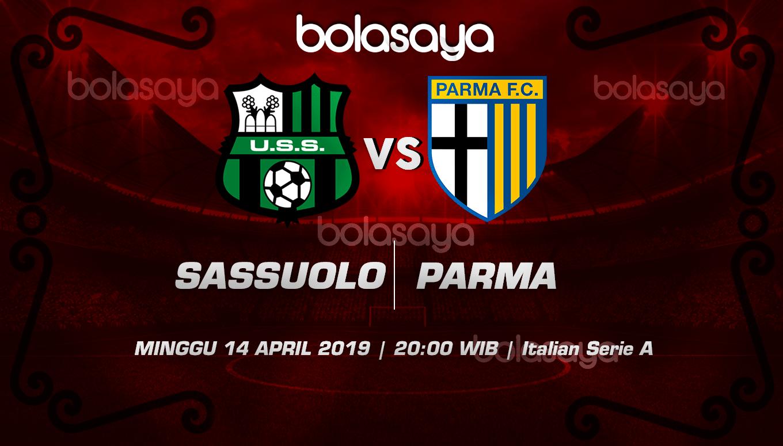 Prediksi Taruhan Bola Sassuolo vs Parma 14 April 2019