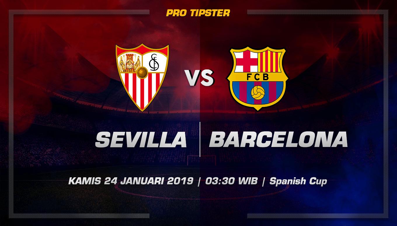 Prediksi Taruhan Bola Sevilla Vs Barcelona 24 Januari 2019